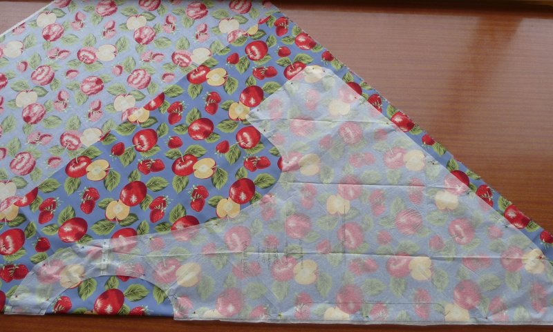 Cutting out - more fabric than I needed!