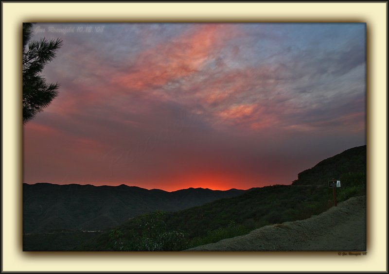 Premature Late Afternoon Sunset, Courtesy Local Brushfires 06
