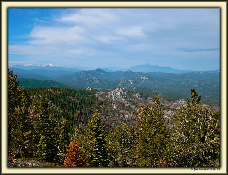 From Bald Mountain Lookout Toward Back Of Whitney At Upper Left Of Photo - Kern County