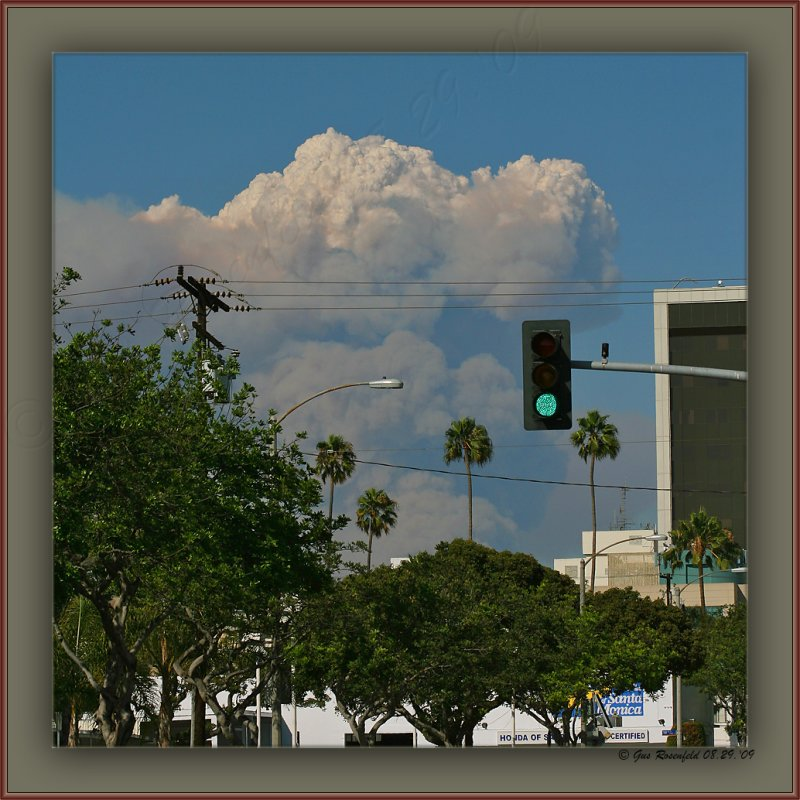 PyroCumulus Cloud ~ Its That Time Of Year Again - View From Santa Monica Makin LA County Look Small
