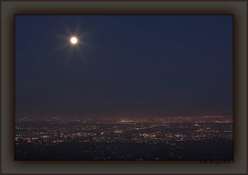 Junes Full Moon Over West Los Angeles