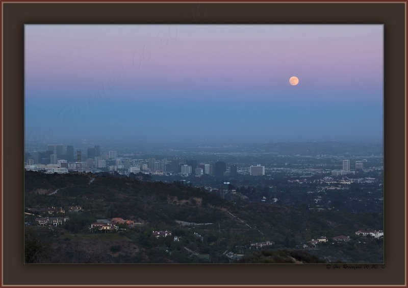 Moon Over West Los Angeles - A True Sense Of Evening