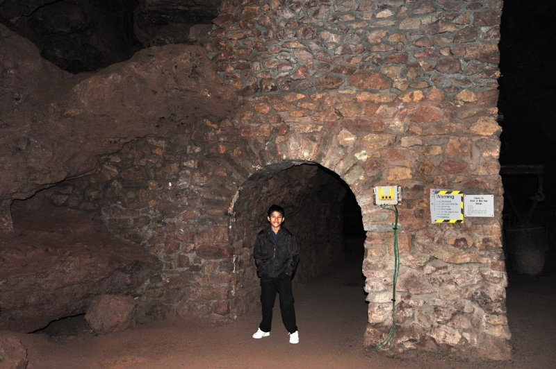 Jaya in Clearwell Caves - August 2009