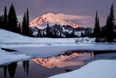 Mt. Rainier  Winter Sunrise