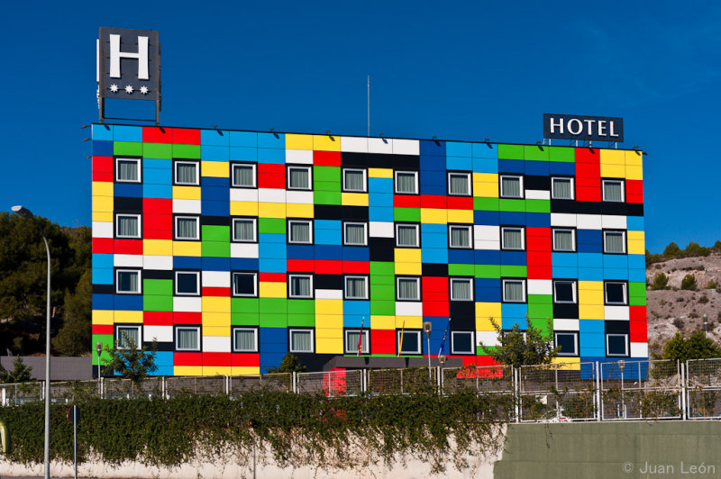 Colourful hotel