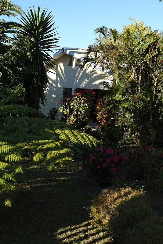 Photo prise dans le jardin des chambres dhôtes Cazocéane