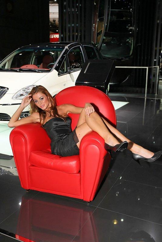 Mondial de lAutomobile 2008 - Sur le stand Lancia