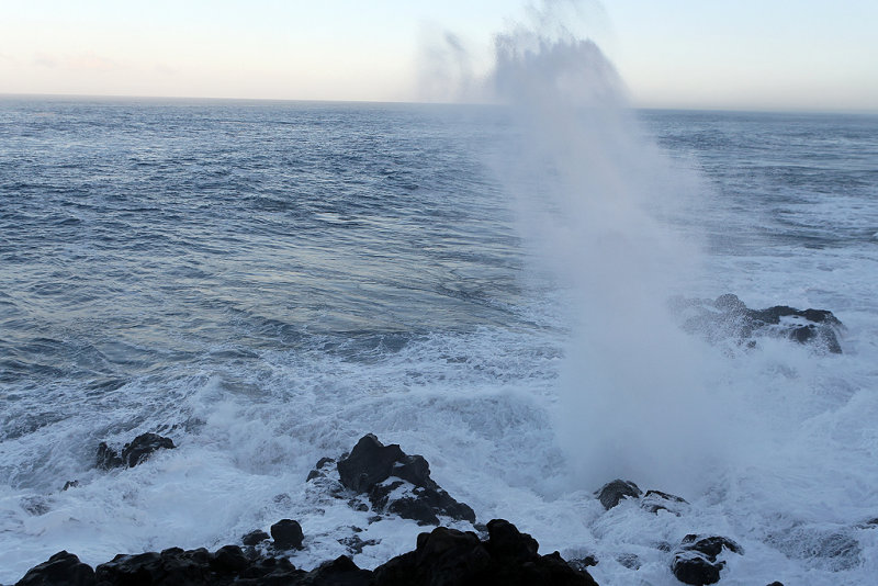 Alerte à la forte houle sur la côte ouest - Le souffleur de Saint-Leu