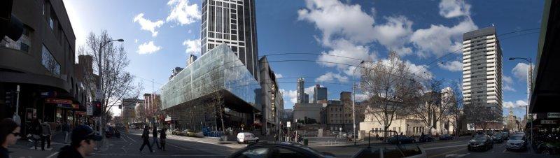 Elizabeth St Melbourne panorama