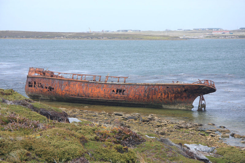 Wreck of Samson, 1945