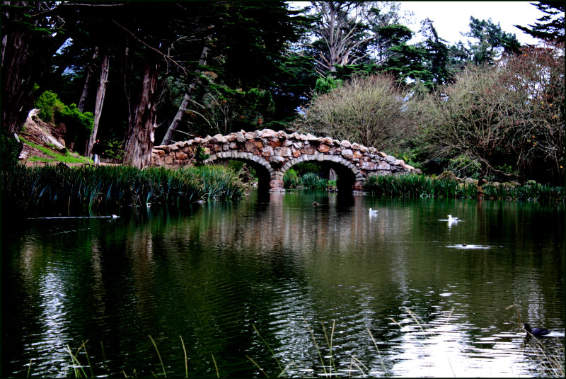 Stow Lake on an overcast day