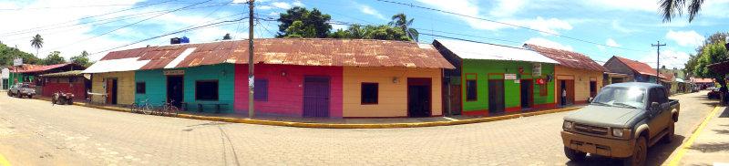 Coffee Street or Billiard Street in San Juan del Sur, Nicaragua