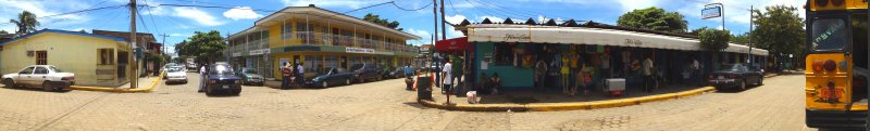 The former Congo Hills Coffee House, Taxi stand, Nicaragua-Realty, Municipal Market, Bus Terminal