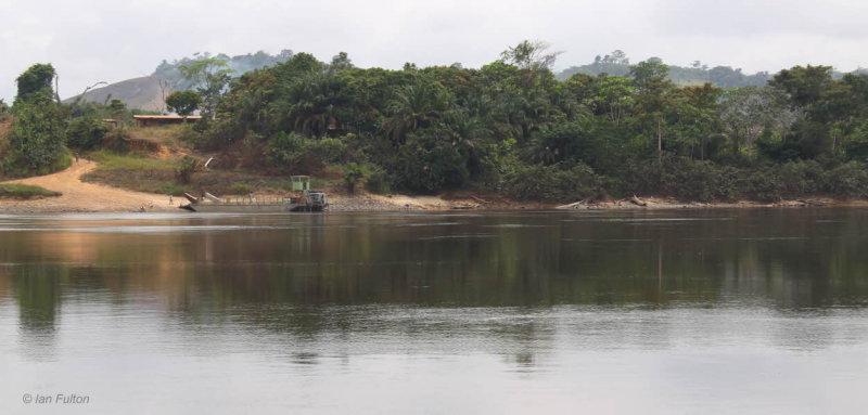 Here comes the ferry, Ogoué River, Gabon