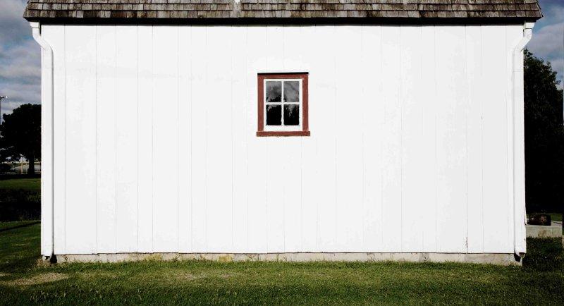 Windmill window  Marion, KS