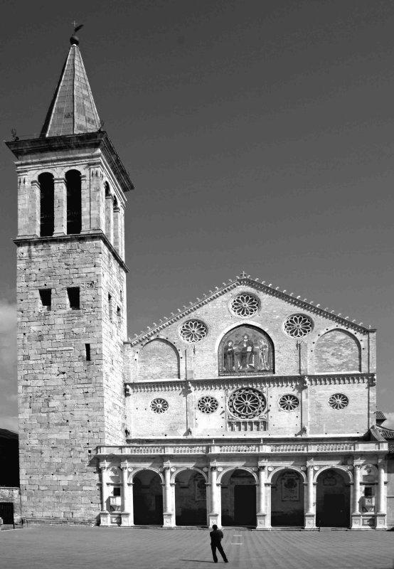 Spoletos campanile and duomo.