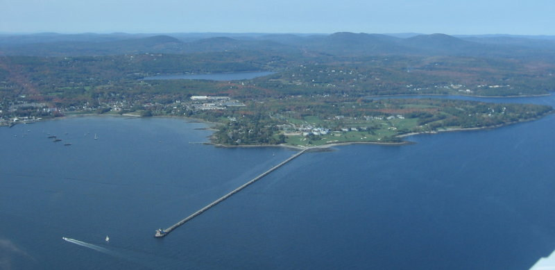 Rockland Harbors Breakwater Jetty and Lighthouse