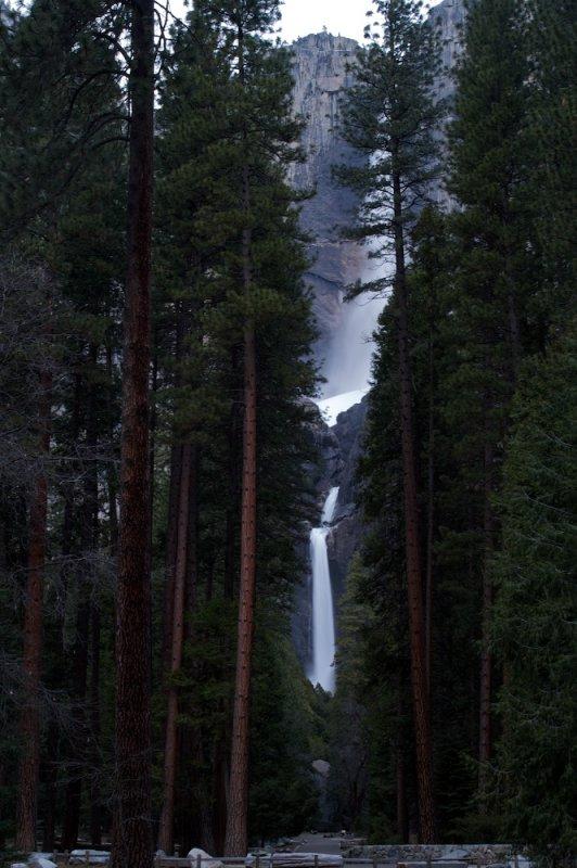 Yosemite falls at twilight