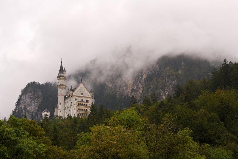 Neuschwanstein in the Clouds