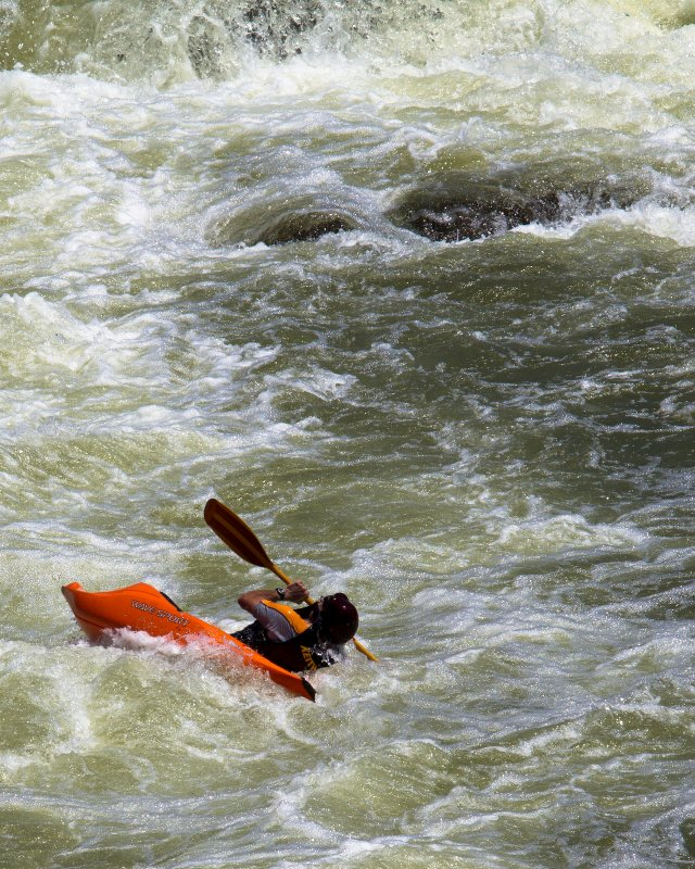 One More Kayaker at Great Falls