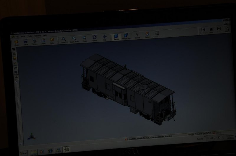 CAD Images of Intermountains SP C40-4 Caboose
