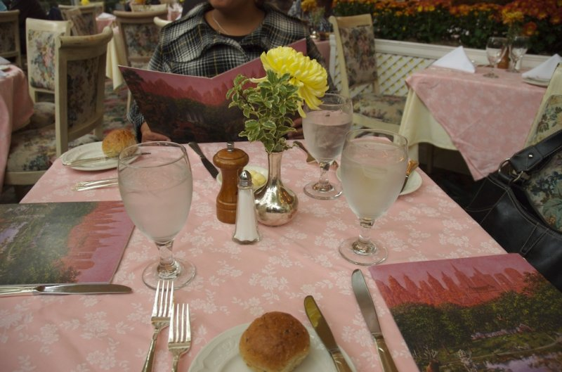 Table setting in formal dining room at The Tavern
