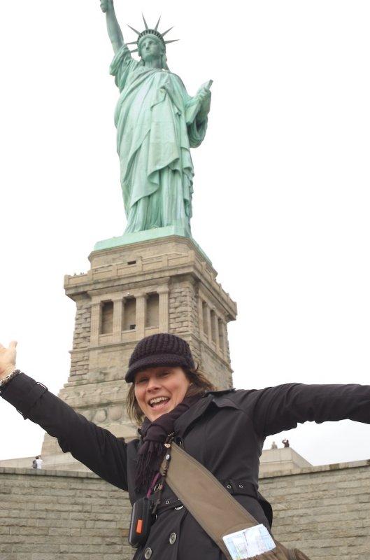 random stranger at Liberty Island