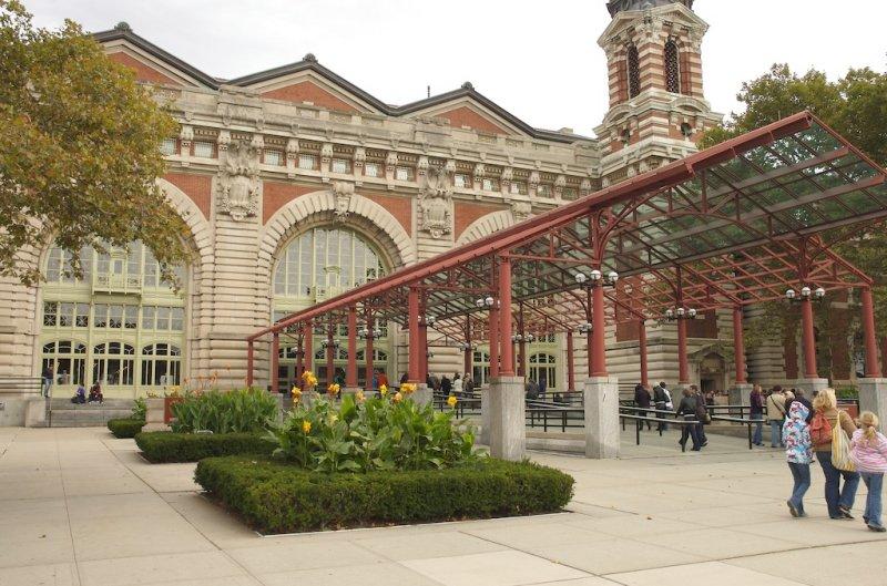Ellis Island walkway !
