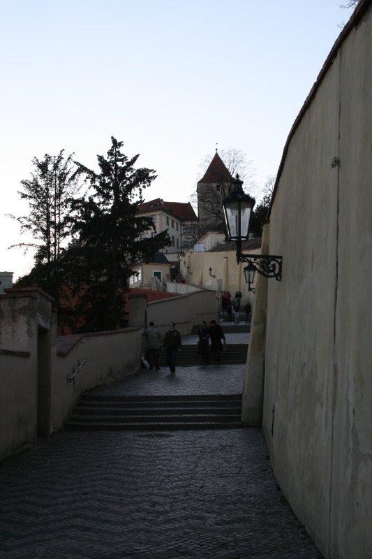 The Castle Steps ...