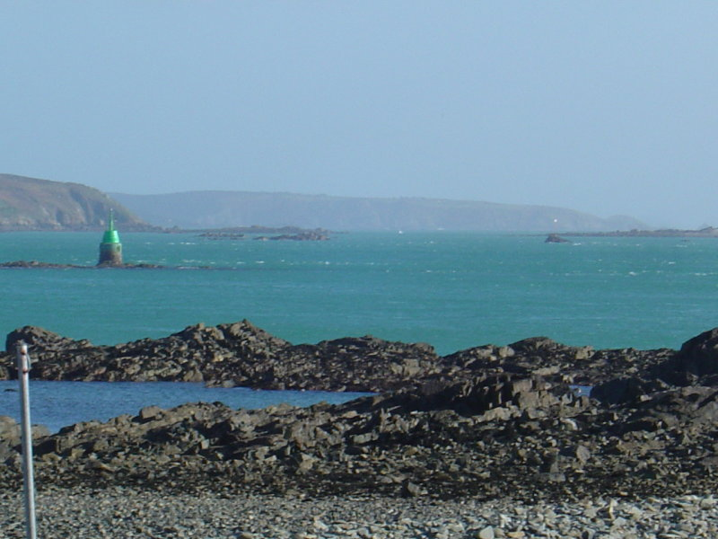 Island of Sark (In the far distance, around 9 miles)