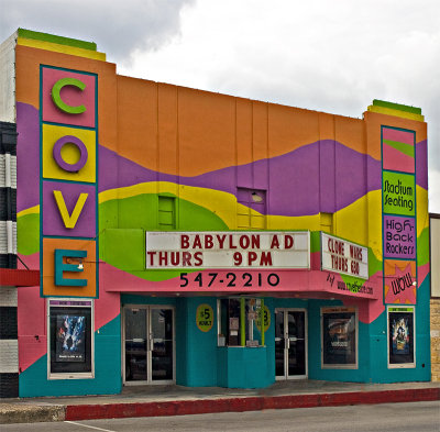 The very colorful Cove Theater