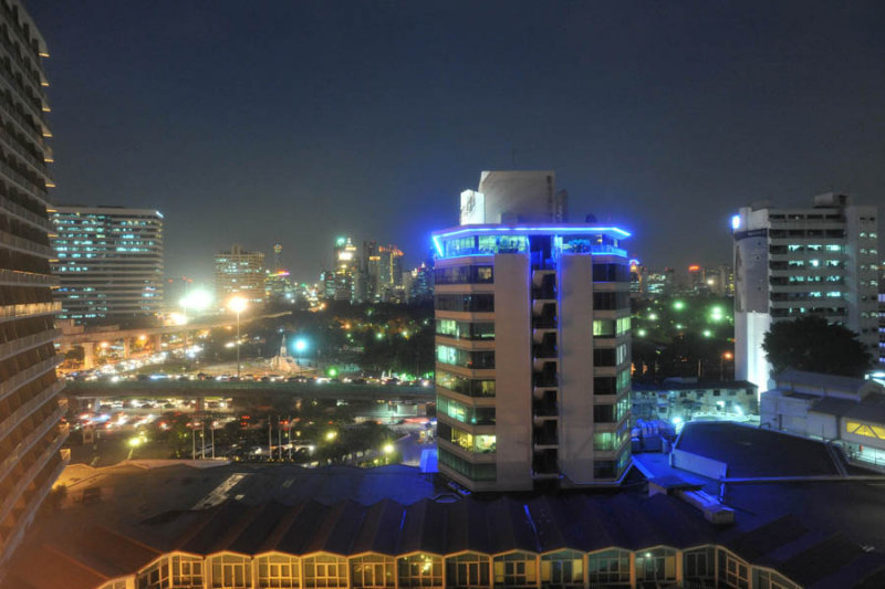 Dusit Thani Hotel View at night