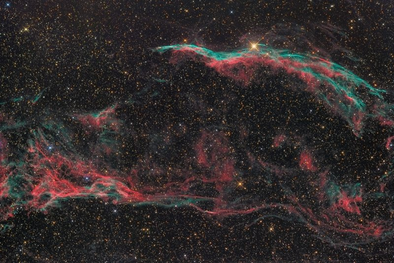 NGC6960 - Veil nebula and Pickerings Triangle in Cygnus