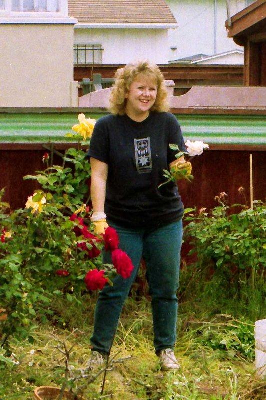 Gail at High Street house  5/1994