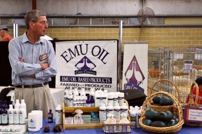 A vendor at the show