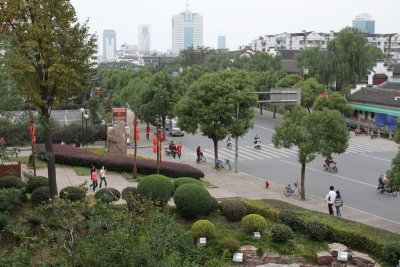 Street from top of park