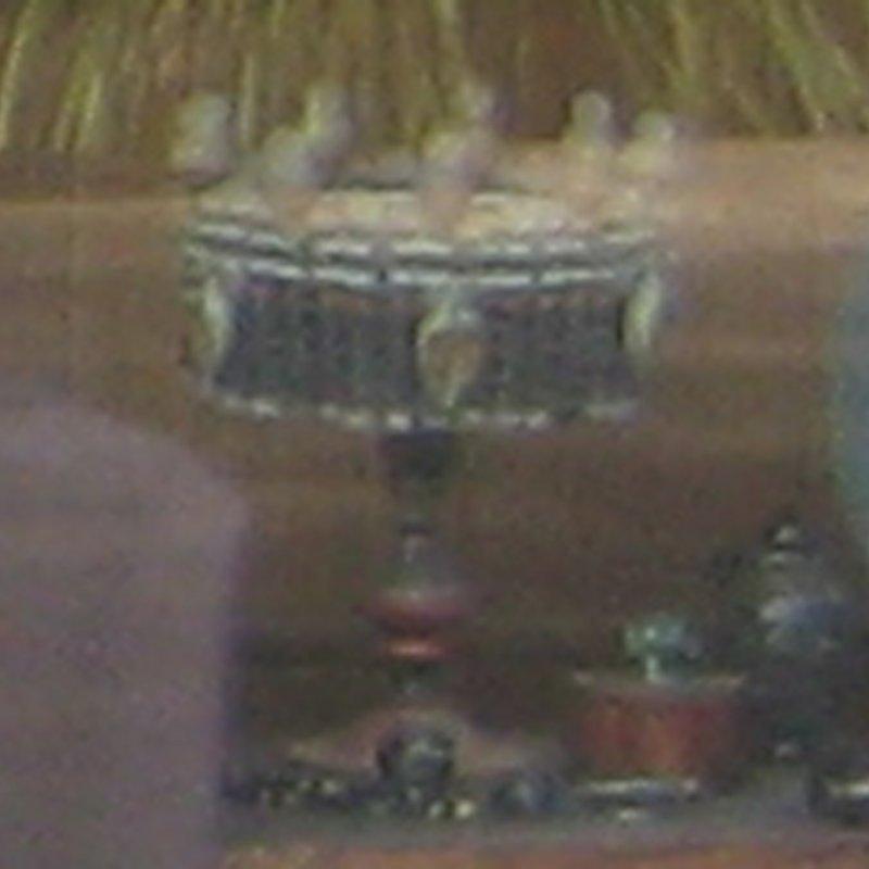 Vessel by Happy Harold, displayed in Akis window