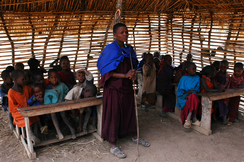 school of Maasai children