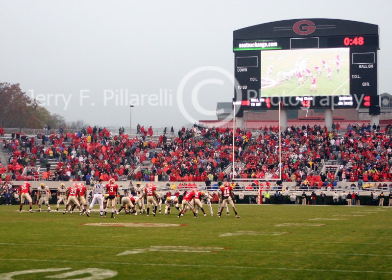 Tech runs out the clock as the crowd files out of Sanford Stadium