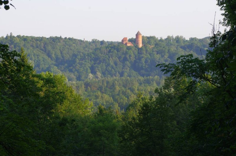 View on Turaida castle from Sigulda