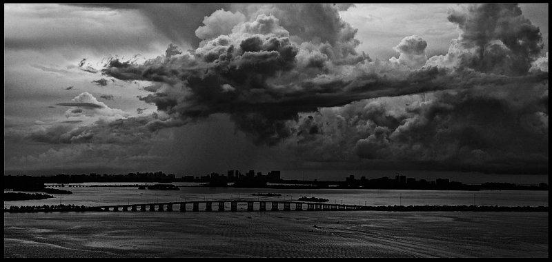 clouds & bridge