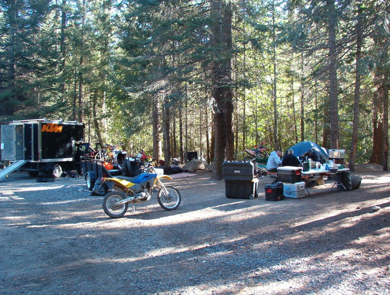 Day 6- The Survivor camp, 800 miles of gravel roads, trails, and pavement. Down to 3 riders, returning to North Bend