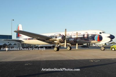 2008 - the Historical Flight Foundations restored Eastern Air Lines DC-7B N836D aviation aircraft stock photo #10062