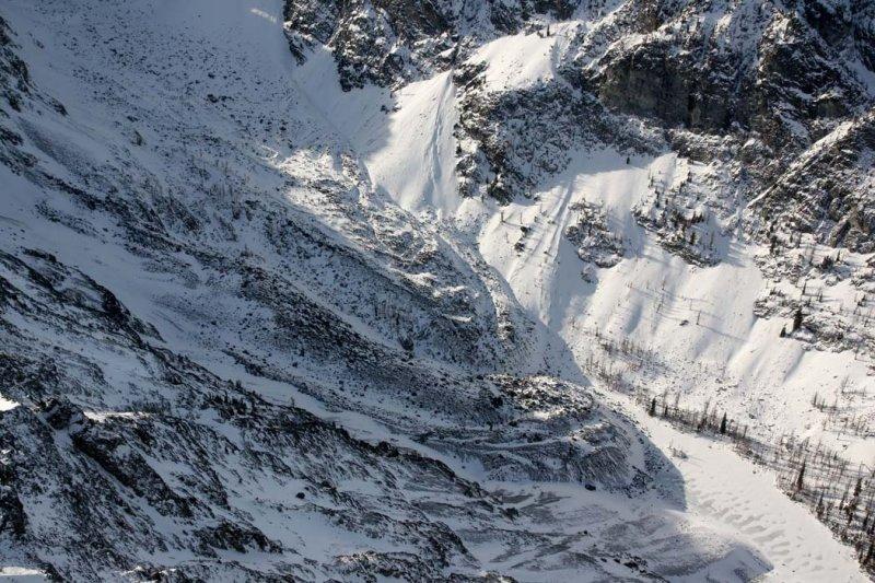 No Dice Lake & Rock Glacier:  Big Craggy, W Face <br> (BCraggy112308-_52.jpg)