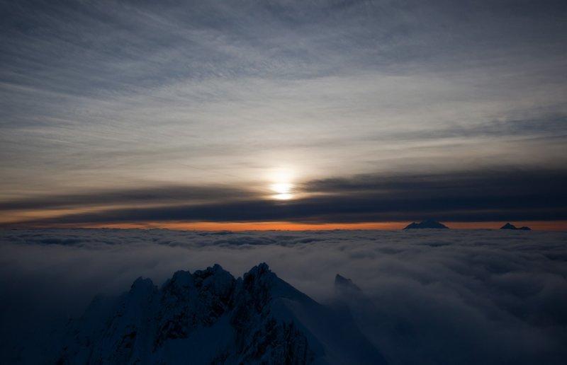 Sunset At Mt. Challenger <br> (Pickets020811-103.jpg)*