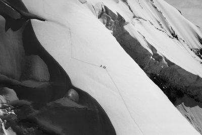 Three Climbers:  Mt Baker, N Ridge <br> (MtBaker070310-064adj.jpg)