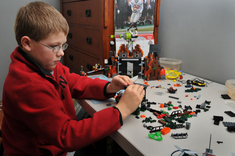 Assembly of Lego Christmas Presents