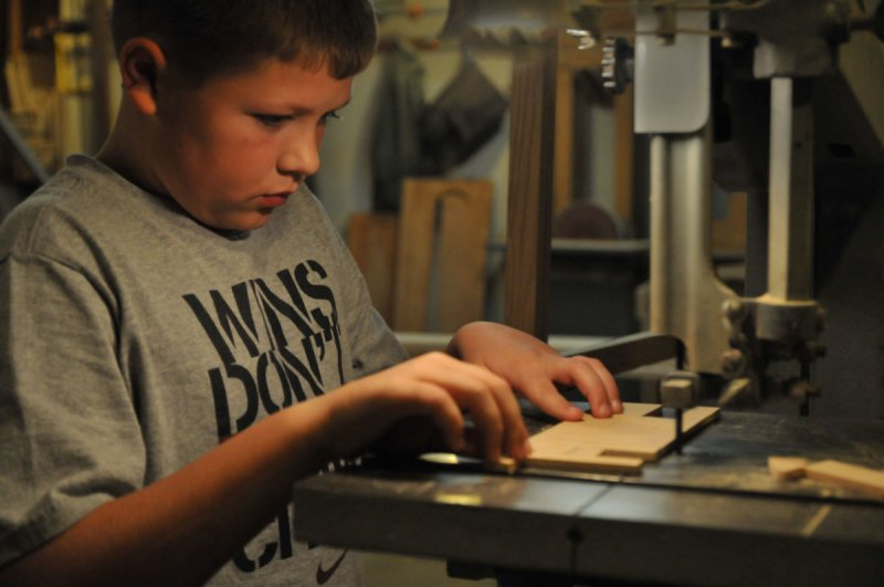 Nolan learning bandsaw basics
