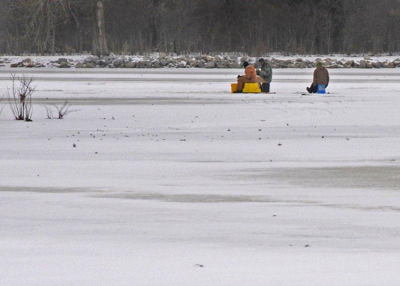 Ice Fishing on Lake Loramie