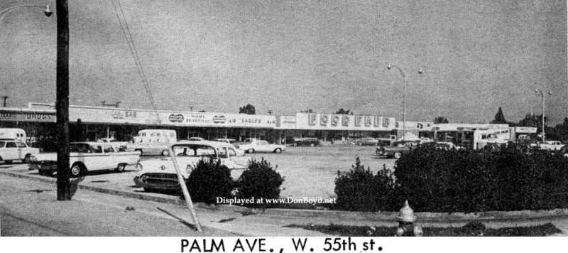 1964 - the Catalina Shopping Center on Palm Avenue between W. 53rd Terrace and 55th Street in Hialeah